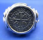 Sterling Silver Mens Atocha Replica Coin Ring LARGE SIZE AVAILABLE up to size 18