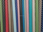 2m Polka Dots Spotty Oilcloth PVC Tablecloth Fabric Picnic Outdoor Mat Cloth
