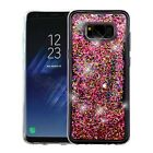 Samsung GALAXY S8 /Plus Hybrid Bling Liquid Glitter Rubber Protective Case Cover