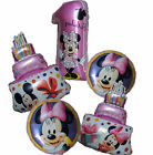 5PCS MINNIE MOUSE 1ST BIRTHDAY NUMBER 1 BALLOON PACK KIDS PA