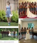 Plus Size UK 6-22 Short Lace Bridesmaid Dress Evening Cocktail Homecoming Gown
