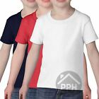 3 Pack Gildan Toddler T Shirt Girls Boys Baby T Shirt White Pink Blue Red Plain