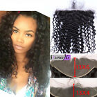 "13""x6"" Peruvian Virgin Human Hair Deep Curly Ear to Ear Full Frontal Closure"