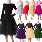 M-5XL Women Tulle Tutu A line  Knee Length Short Prom Party Petticoat Skirt