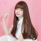 Long Wavy Synthetic Hair Mono Hairpiece Clip in Hair Topper wig with Air Bang