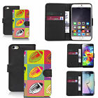 faux leather wallet case for many Mobile phones - multi rugby