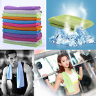 "Instant Cooling Towel for Athletes Fitness Yoga Pilates Hiking Camping 40"" x 12"" image"
