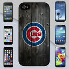 Chicago Cubs Wooden Fence Background iPhone & Galaxy Case Cover