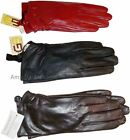 New Ladies dressy stylish Leather Gloves Winter Gloves soft Warm Lined Leather*