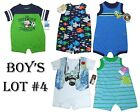 Lot Romper 5 Creeper Boys 1 Pc Summer Outfits Baby Clothes 3-6M Carters Huge