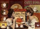 CAFFE ROMA  METAL TIN SIGN POSTER WALL PLAQUE