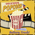 DELICIOUS POPCORN  METAL TIN SIGN POSTER WALL PLAQUE