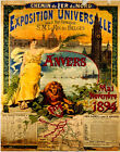 Exposition Universalle, Anvers (1894)   METAL TIN SIGN POSTER WALL PLAQUE