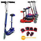 2017 KIDS ELECTRIC E SCOOTER 120W RIDE ON TOY HEIGHT ADJUSTABLE REMOVABLE SEAT