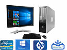 "FAST HP Desktop Computer PC Core 2 Duo, 8GB  Windows 10 AND 19"" Monitor WIFI"