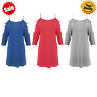 Ladies Casual 3/4 Sleeve Loose Tops Blouse Womens Crewneck Top T shirt New Hot