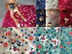 LUXURY QUALITY FLEECE FUR DOG BLANKET Double Sided 5 DESIGNS 3 SIZES SUPERB