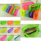 Clear Candy Colors Stationery Bag Zipper Pen Pencil Women's Cosmetic Storage Bag