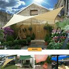 Patio Garden Sun Shade Sail Canopy Awning Sunscreen 98% UV Block 3 Shape New