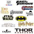 HARRY POTTER THOR BATMAN Jewellery Dominic Toretto Cross Necklace CSGO Keyring