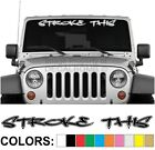 Stroke This Outline Windshield Decal Sticker Style A- Vinyl rzr diesel turbo car