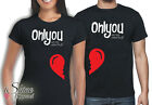 VALENTINES DAY SHIRT SET COUPLES HEART SOUL MATE 2 COUPLE VALENTINE T-SHIRT TEE
