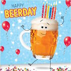 "GOGGLIES 3D MOVING EYES ""HAPPY BEERDAY"" FUNNY BEER BIRTHDAY GREETING CARD 1STP&P"