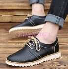 Mens Vintage British Hollow Out Lace-up Oxfords Dress Formal Casual Board Shoes