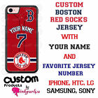Customized Boston Red Sox Baseball Phone Cover Case For iPhone Samsung Name & No