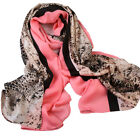 "Women's Large Big Silk Head Shawl Leopard Scarf Wraps Pashmina 180xcm 70""×35"""