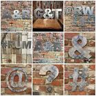 "12"" industrial Aluminium letter metal rustic numbers symbols shop sign lettering"