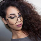 Hot New Huge Oversized Metal Aviator Frame Clear Lens Glasses