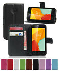 "Leather wallet stand Flip pouch Cover Cases For Alcatel One Touch Pixi 4 (4.0"")"
