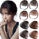 2017 Thin Neat Air Bangs Real Hair Extension Clip In Fringe Front Hairpiece