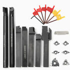 10 Types Shank Lathe Turning Tools Holder Boring Bar + CNC Carbide Tips Inserts