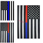 "12""x18"" Thin Blue Line USA Flag Police Honoring Law American Home Garden Flag"