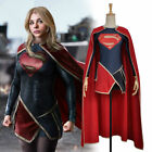 New Supergirl Moretz Style Dress Cosplay Costume Custom With Cape For Adult