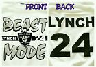 MARSHAWN LYNCH OAKLAND RAIDERS T-SHIRT BEAST MODE CUSTOM #24 Men/Wom/Kids S-3XL