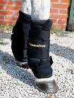 PAIR OF BLACK  BACK ON TRACK PAIN RELIEF QUICK WRAPS ROYAL FOR HORSES S, M, L
