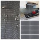 """3""""x6"""" Gray Crystal Glass Subway Tile For Kitchen Bathroom Shower Spa Wall"""