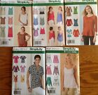Simplicity 1423, 1424, 1539, 2181, 4127 Misses Tops Asst. Styles/Sizes You Pick
