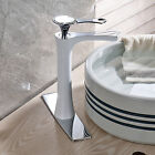 Single Handle White Painting Basin Faucet Vanity Sink Mixer Deck Mounted Tap