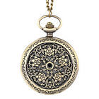 Vintage Steampunk Hollow Delicate Flower Quartz Pendant Fob Pocket Watch Gifts