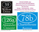 Wheelie Bin/Dustbin Number & Name 2 Lines - from 1 to 5 x Sets - 240 Options