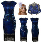 Vintage 1920s Flapper Dress Gatsby 1930s Charleston Ladies Sequin Party Costume