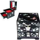 Antique Jewelry Box Mother Of Pearl Women Gift Item Drawer Organizer D105