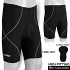 Mens Cycling Padded Shorts MTB CoolMax Bicycle Bike Anti-Bac Padding Lycra Black