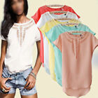 NEW Fashion Womens Summer Vest Top Short Sleeve Blouse Casual Tank Tops T-Shirt