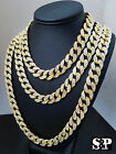 """Hip Hop Quavo Full Iced Out 16"""",18"""", 24"""", 30"""" Miami Cuban Link Choker Necklace"""