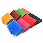 Hot 24 Bits Credit Card Holder PU Leather Unisex ID Package Organizer Manager